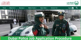 Dubai Police Job Application Procedure