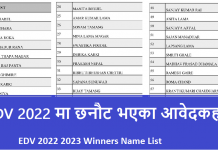 EDV 2022 2023 Winners Name List