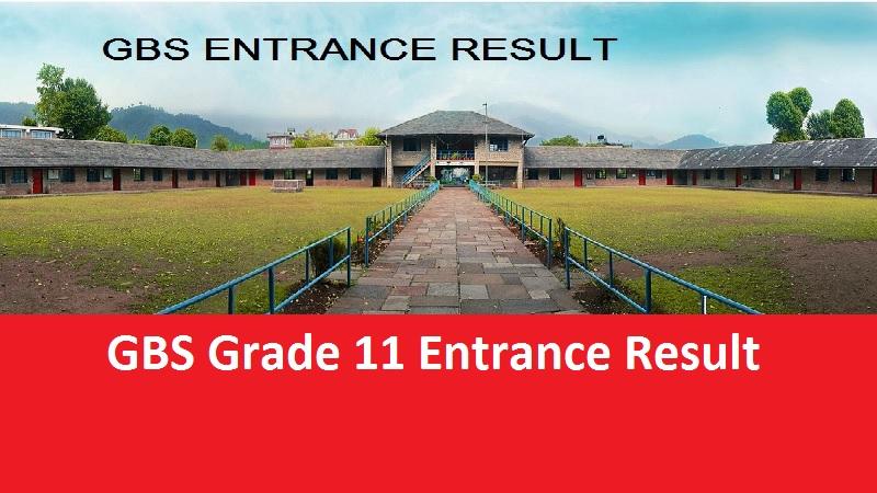 GBS Grade 11 Entrance Result
