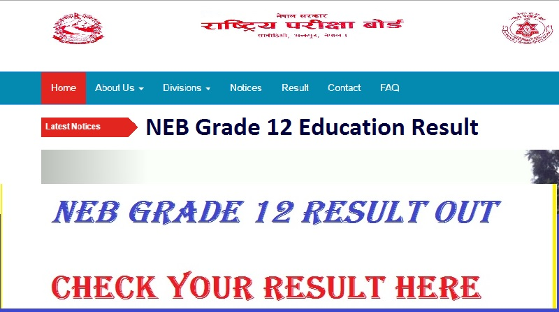 NEB Grade 12 Education Result