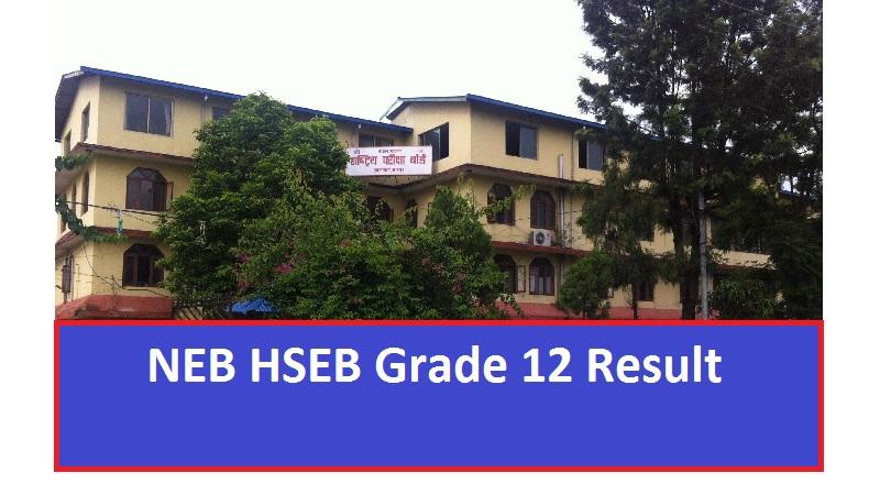 NEB HSEB Grade 12 Result