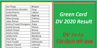 Green Card DV 2020 Result EDV 2020 Result