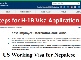US Working Visa for Nepalese