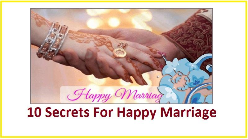 happy marriage 10 secrets