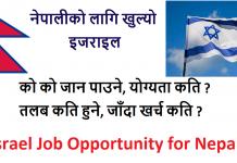 Israel Job Opportunity for Nepali