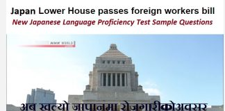 New Japanese Language Proficiency Test Sample Questions