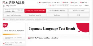 Japanese Language Test Result