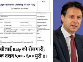 working visa in Italy