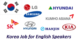Korea Job for English Speakers