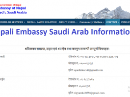 Nepali Embassy Saudi Arab Information