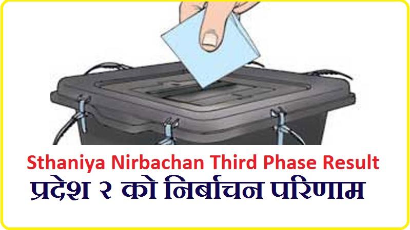 Sthaniya Nirbachan Third Phase Result