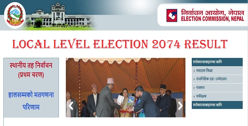local level election 2074 result