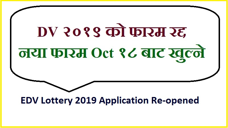 EDV Lottery 2019 Application