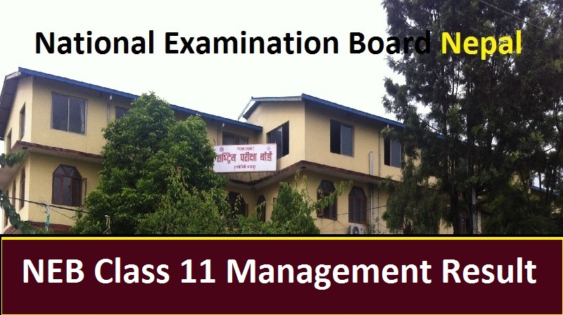NEB Class 11 Management Result