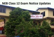 NEB Class 12 Exam Notice Updates