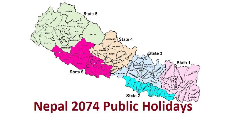 Nepal 2074 Public Holidays