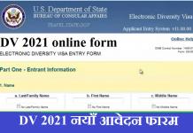 DV 2021 Online Application Form