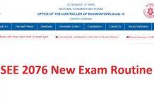 SEE 2076 New Exam Routine