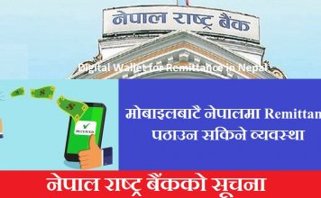 Digital Wallet for Remittance in Nepal