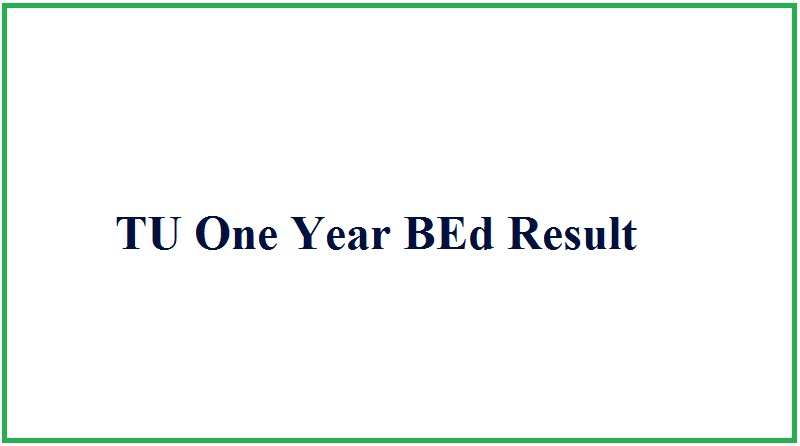 TU One Year BEd Result