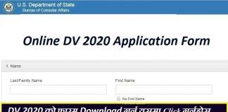 Online DV 2020 Application Form