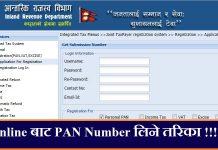 PAN Number Online Form