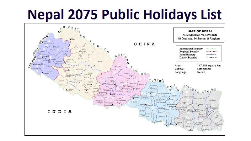 Nepal 2075 Public Holidays List