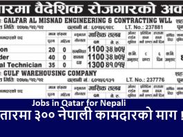 Jobs in Qatar for Nepali