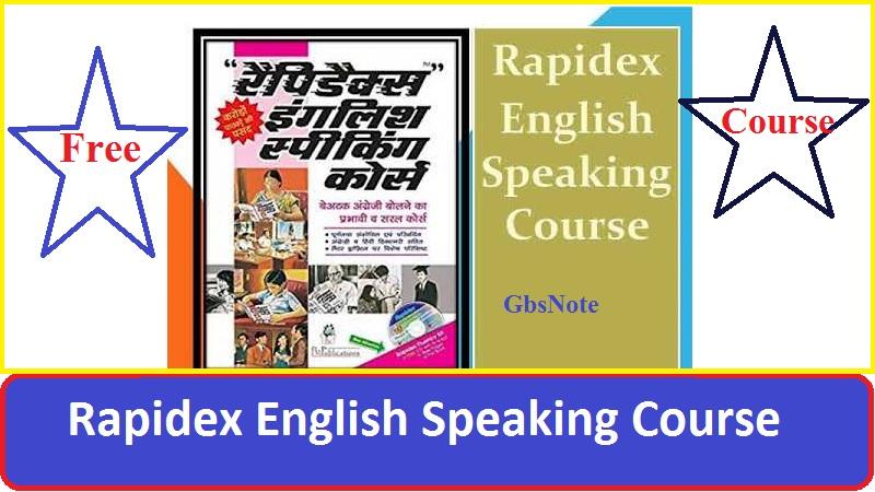 Rapidex English Speaking Course