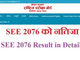 SEE 2076 Result in Details