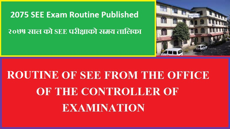 2075 SEE Exam Routine