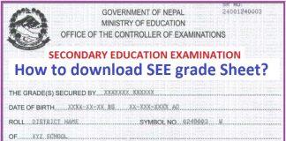 SEE Exam 2074 Grade Sheet