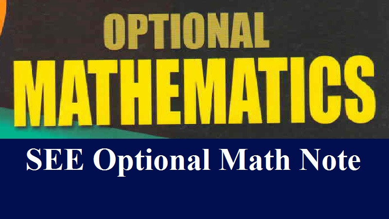 SEE Opt Math Note