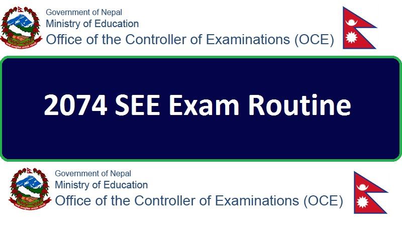 2074 SEE Exam Routine