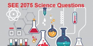 SEE 2075 Science Questions