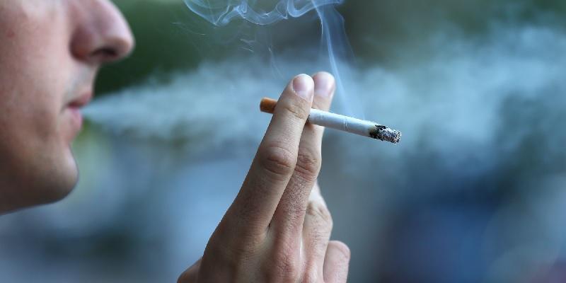 smoking cigarettes