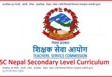 TSC Nepal Secondary Level Curriculum