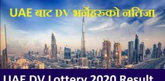 UAE DV Lottery 2020 Result