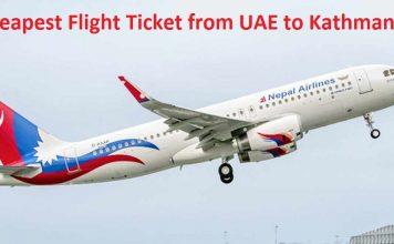 Cheapest Flight Ticket from UAE to Kathmandu