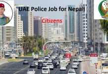 UAE Police Job for Nepali Citizens