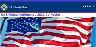 US Embassy Kathmandu 2022 DV Notice