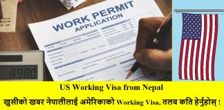 US Working Visa from Nepal