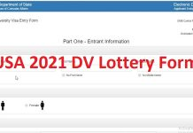 USA 2021 DV Lottery Form