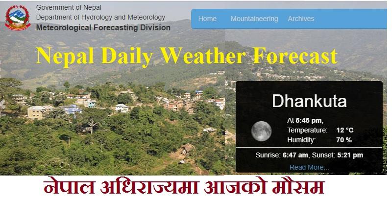 Nepal Daily Weather Forecast