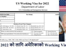 USA Working Visa for 2022